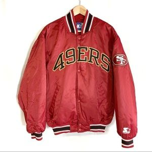 San Francisco 49ers STARTER Red Jacket Size Medium